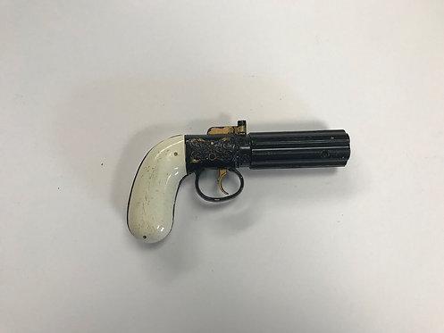 Small White Flintlock Pocket Pistol