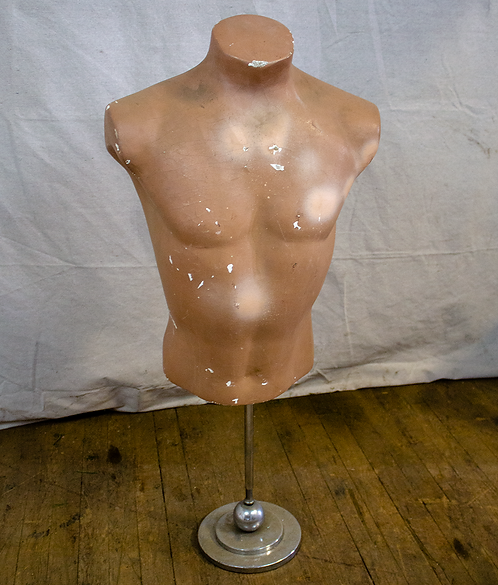 Male Mannequin Torso Hollow Back on Stand