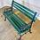 Thumbnail: Green Wood Plank & Metal Park Bench