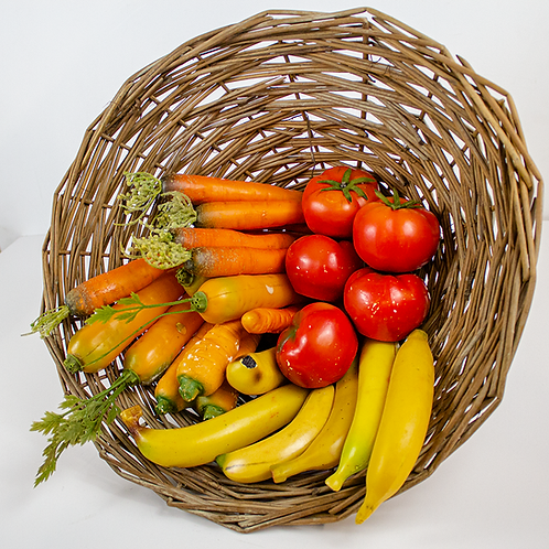 Assorted Fake Fruits and Vegetables