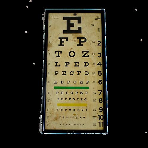 Optometrist Eye Chart