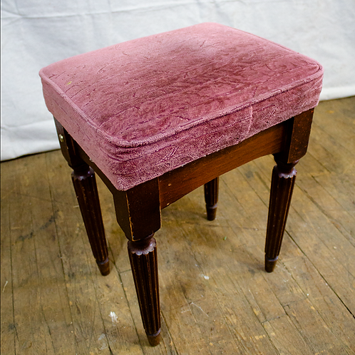 Low Pub Stools with Pink Cushion Cover