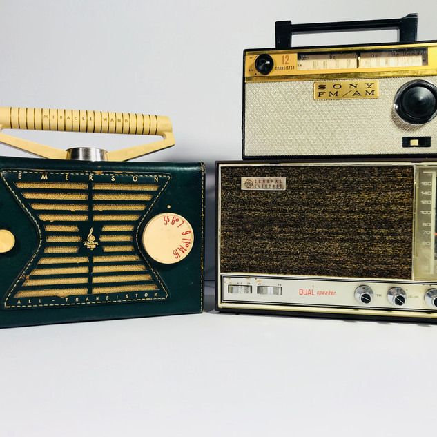 Emerson (left) Sony (top right) General Electric (bottom left) Radio