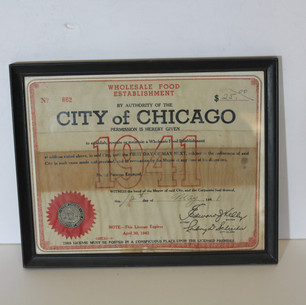 City of Chicago, Wholesale food stablishment 1941, legal document