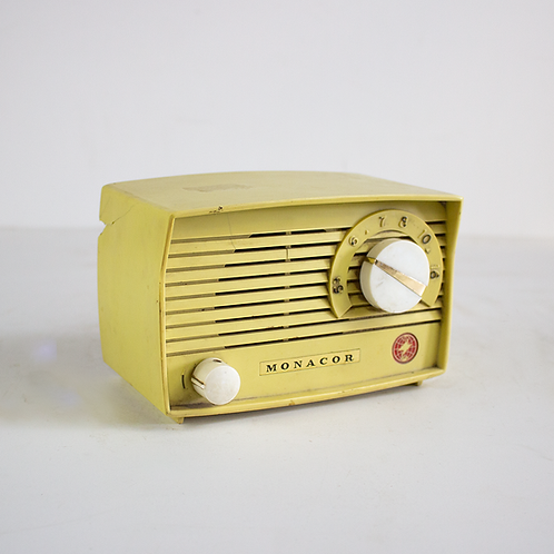 Yellow Monacor Radio 1960s