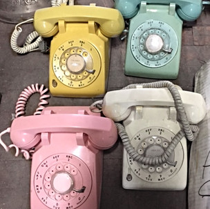 Colorful Rotary Phones