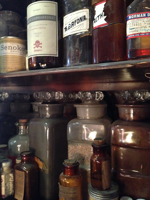 Lab Chemicals in Apothecary Jars