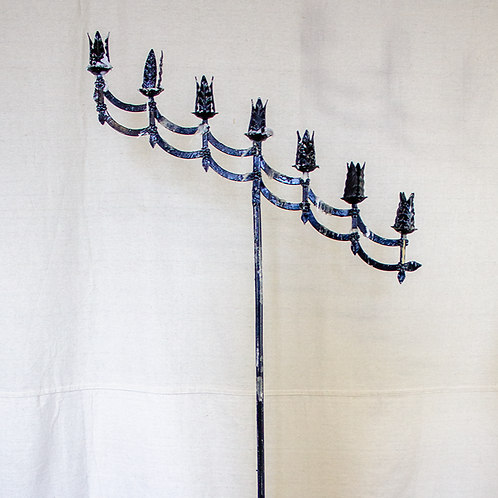 Slanted Scalloped Standing Candelabra