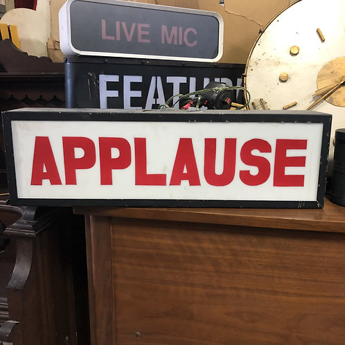 White Studio Applause Light Up Sign