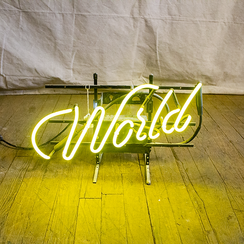 World Neon Sign