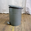 Thumbnail: Grey Metal Trash Can with Lid