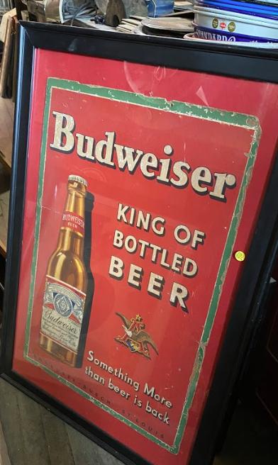 Budweiser Framed Advertising