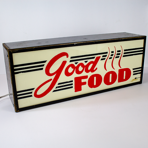 Good Food Light Box Diner Sign