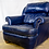 Thumbnail: Blue Plush Leather Armchair