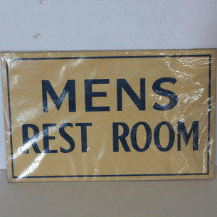 Mens Rest Room sign