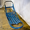 Blue Wooden Dog Sled Front View