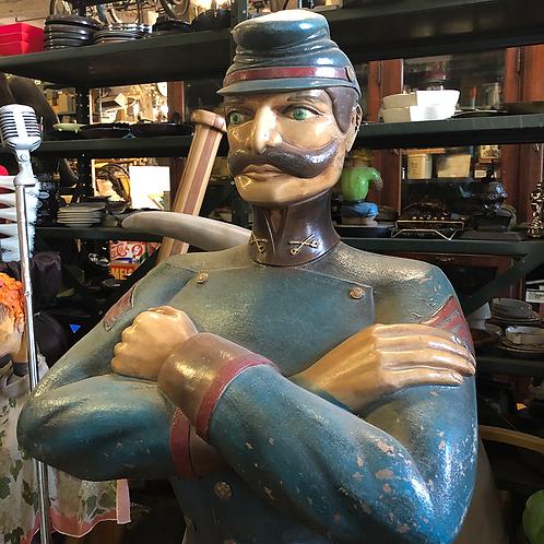 Blue Solider Statue