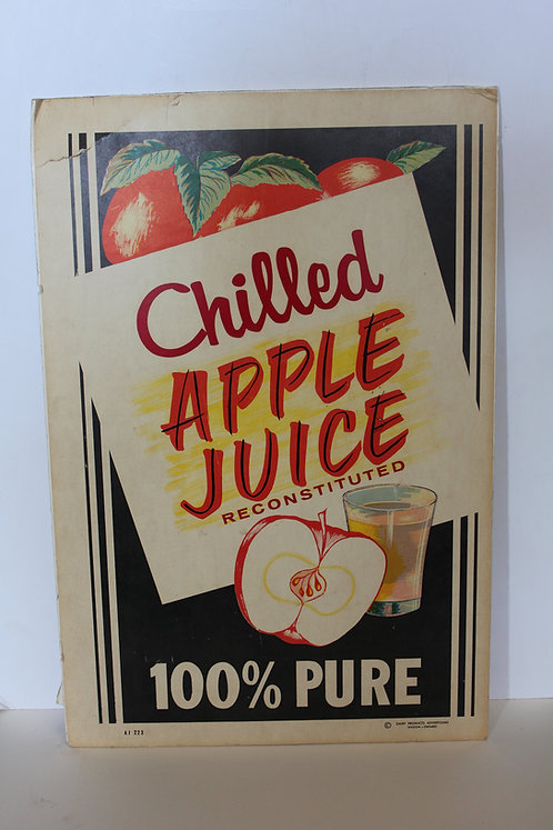 Chilled Apple Juice Diner Sign