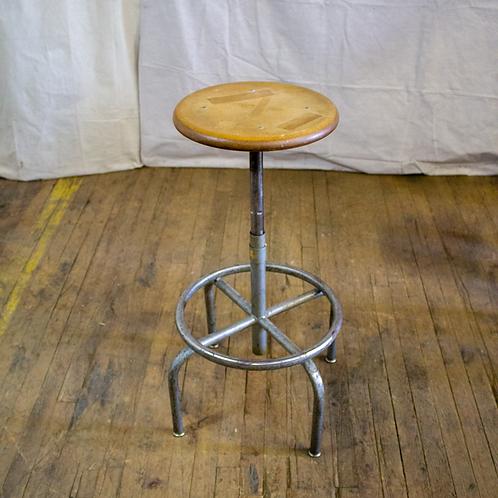 Round Wood Seat Stool