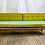 Thumbnail: Green Striped Couch with Wood Frame