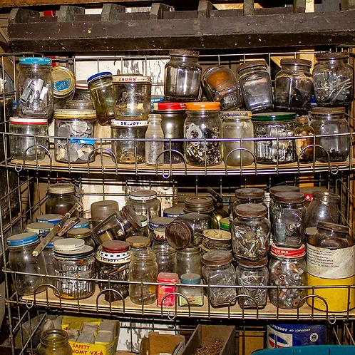 Various Jars of Nuts and Screws