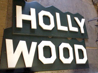 Large Wooden Hollywood Sign