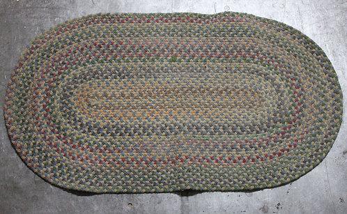 #16 Braided Oval Rug