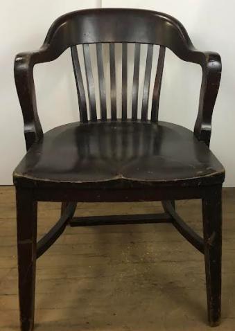 Dark Wood Bank of England Office Chair