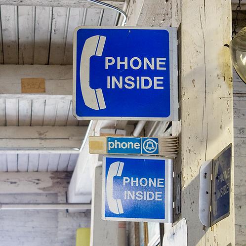 Phone Inside Sign