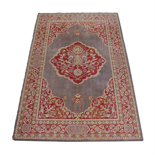 #4 Grey and Red Persian Rug