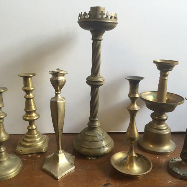 Brass candle sticks
