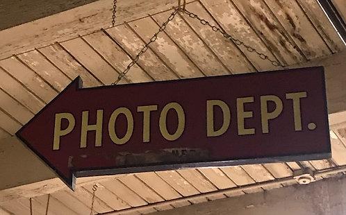 Photo Department Arrow Sign