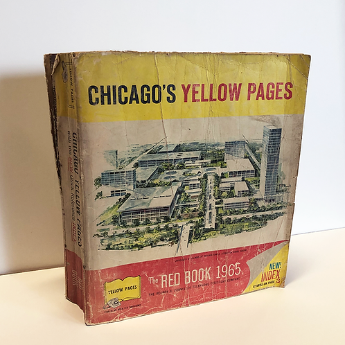 Chicago Yellow Pages Phonebook 1965