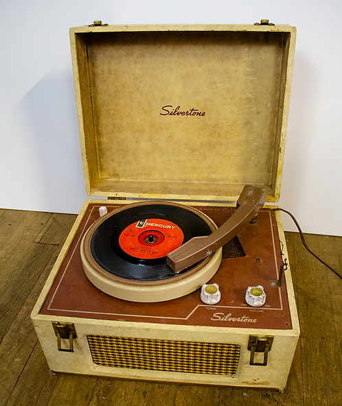 Silvertone Portable Record Player