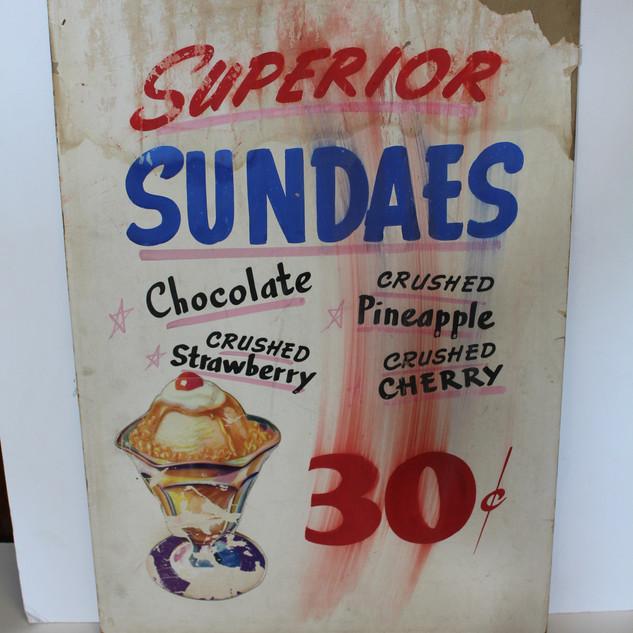 Superior Sundaes sign