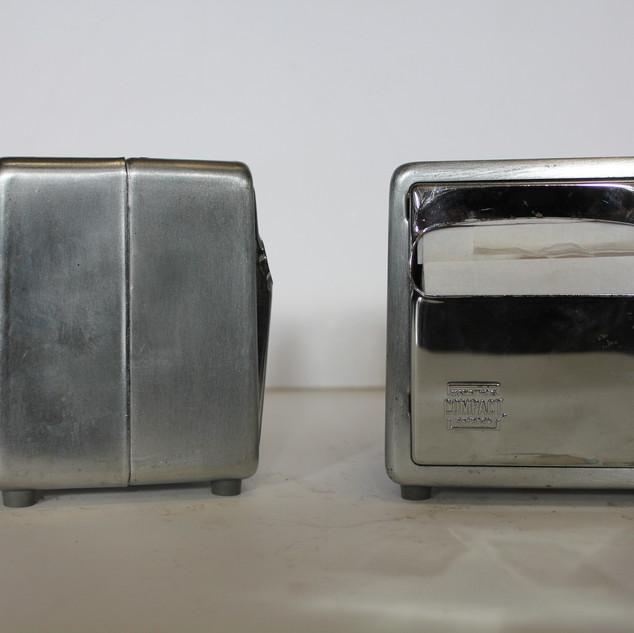 chrome and stainless steel napkin dispenser