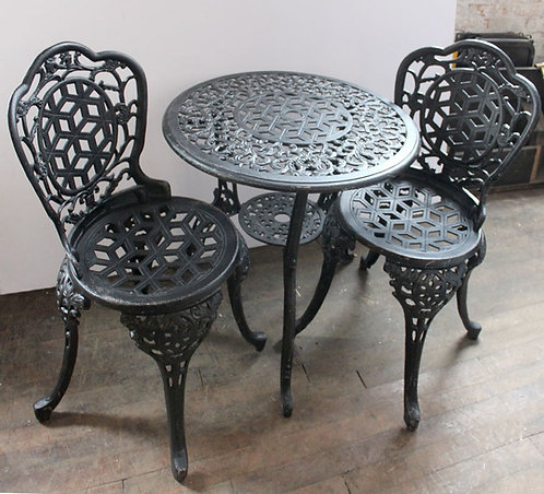 Cast Iron Cafe Table and Chairs