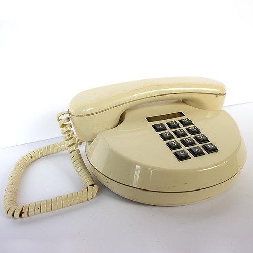 Round Push Button Pancake Telephone 1980s