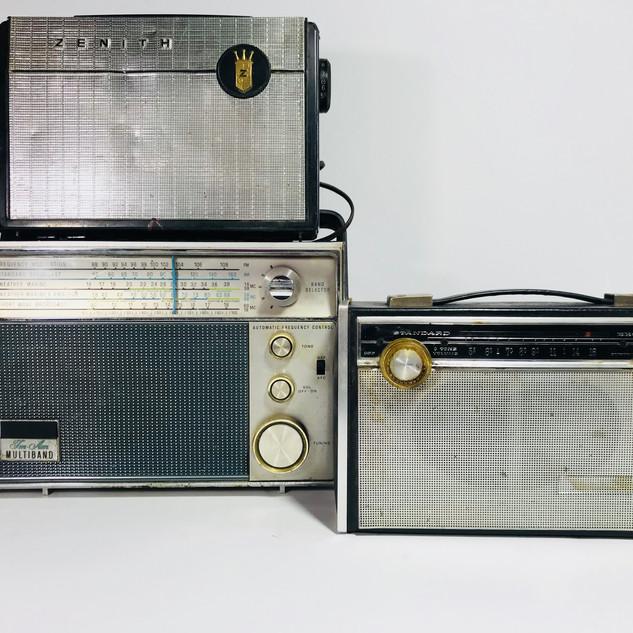 Zenith (top left) Multiband (bottom left) Standard Broadcasting (right) Radio