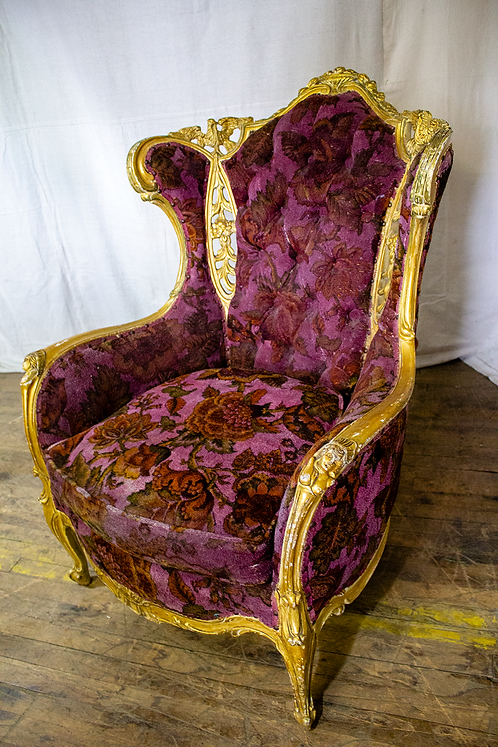 Purple and Gold Armchair