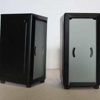 Matte black napkin dispenser