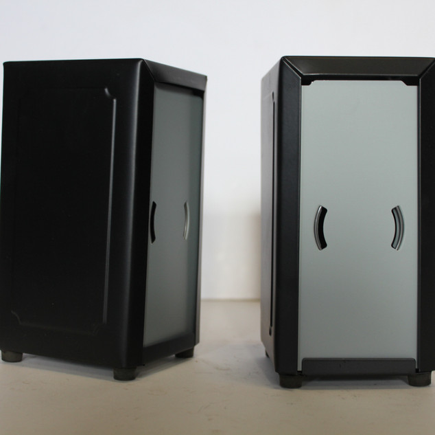 matt black napkin dispenser