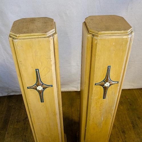 Wood Church Pillars