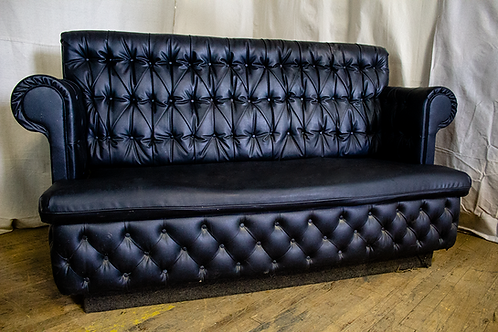 Black Tufted Straight Back Couch
