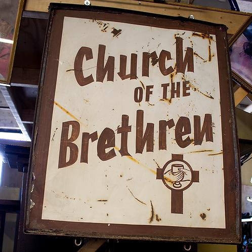 Large Church of the Brethren Sign