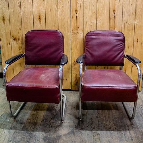 Maroon Salon Chairs