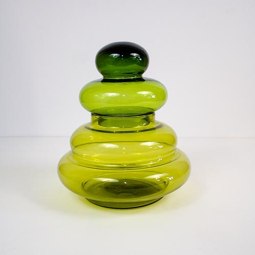 Green Two-Tone Apothecary Jar