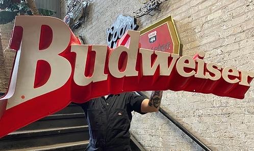 Large 3D Plastic Budweiser Sign