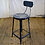 Thumbnail: Black Metal Stool with Back