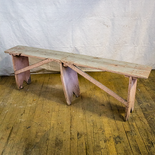 Rustic 5ft Pink Grey Bench